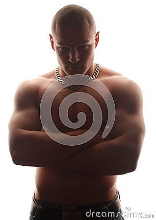 Bold male model