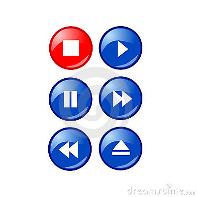 Free Bold Simple Music Player Buttons Stock Photos - 7220643