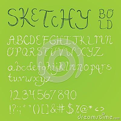 Bold Sketchy Font