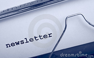 Boletín de noticias de la máquina de escribir