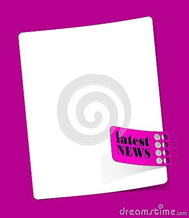 Boletín de noticias, elementos realistas del diseño