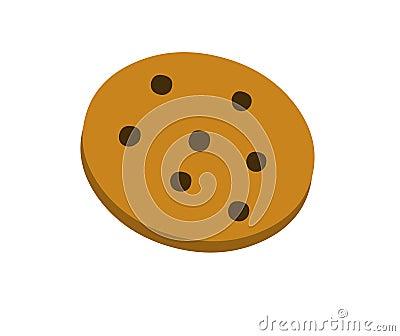 Bolinho de microplaquetas de chocolate