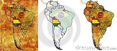 Bolivia flag territory