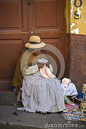 Bolivia - La Paz - Local Woman Editorial Image
