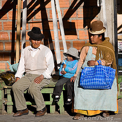 Bolivian family Editorial Stock Photo