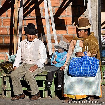 Bolivian family Editorial Stock Photo