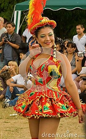 Bolivian Morenada Dancer at Carnaval del Pueblo Editorial Photo