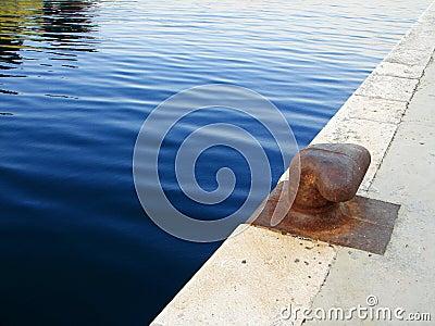 Bollard on dock