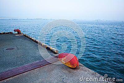 Bollard in wharf
