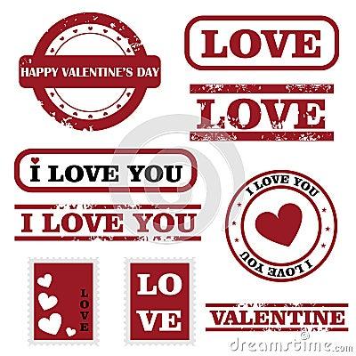 Bolli del biglietto di S. Valentino