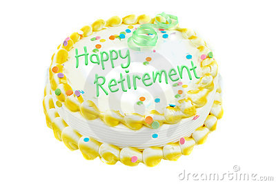 Bolo festivo da aposentadoria feliz