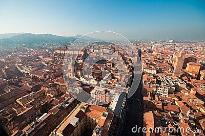 Bologna cityscape, Italy.