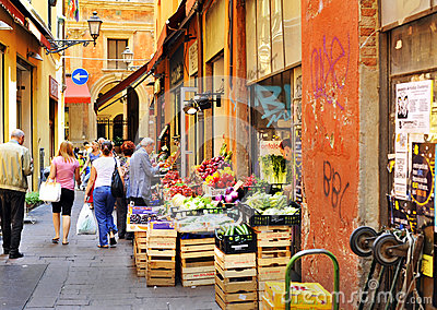Bologna - fruit and vegetables market Editorial Stock Image