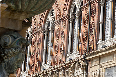 Bologna, Historic palace, facade