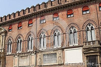 Bologna (Italy), Historic palace, facade