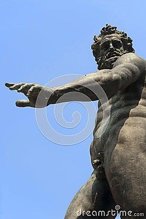 Bologna (Italy) Neptune s bronze fountain