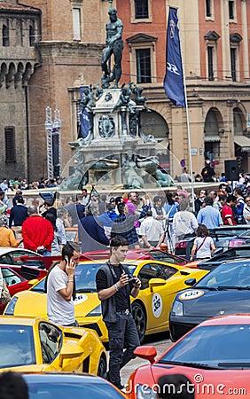Bologna, Lamborghini anniversary 50th Editorial Photo