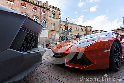 Bologna, Lamborghini anniversary 50th Editorial Photography