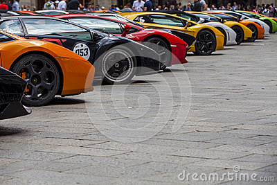 Bologna, Lamborghini anniversary 50th Editorial Stock Photo
