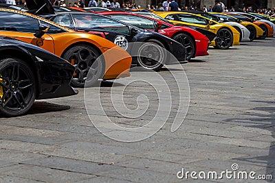 Bologna, Lamborghini anniversary 50th Editorial Stock Image