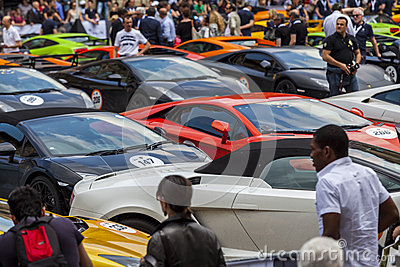 Bologna, Lamborghini anniversary 50th Editorial Stock Photo