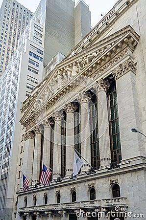 A bolsa de valores de NY, Wall Street
