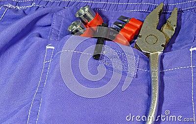 Bolsillo de las herramientas