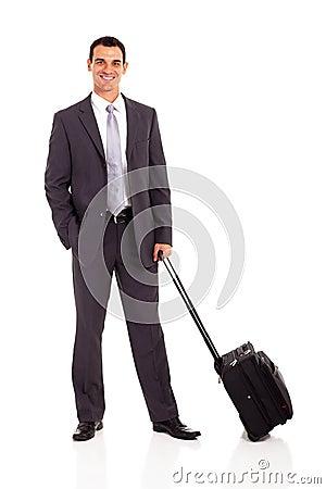 Bolso de la carretilla del hombre de negocios