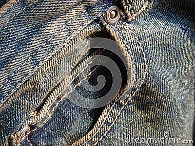 Bolso dianteiro das calças de brim