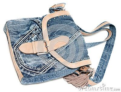 Bolso femenino de los pantalones vaqueros
