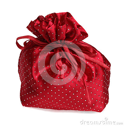 Bolso rojo del regalo