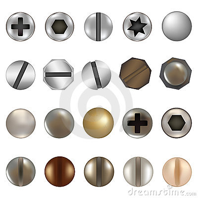 Free Bolts And Screws. Vector Stock Photography - 17558582