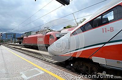 Bolzano  railway station Editorial Image