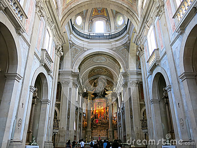 Bom Jesus do Monte in Braga, Portugal Redactionele Stock Afbeelding