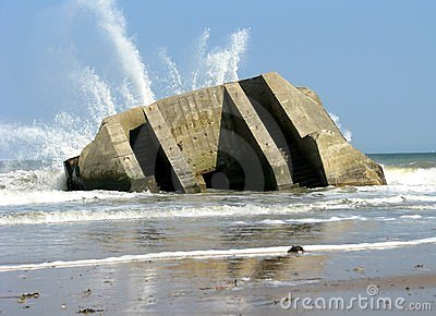 Bom shelter in Normandy
