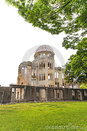 A Bomb Dome, Hiroshima Peace Memorial. Japan