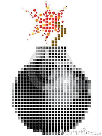 Bomb in mosaic