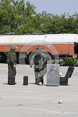 Bomb squad action