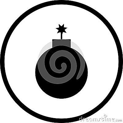Bomb Vector Symbol Stock Photo - Image: 3074240