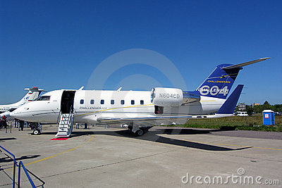 Bombardier Challenger 604 Editorial Stock Photo