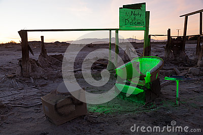 Bombay Beach Chair Ruins