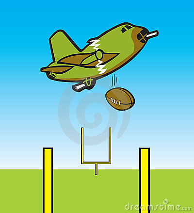 Bomber Dropping Football