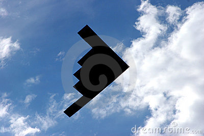 Bombowiec b 2 latać nad ukradkiem