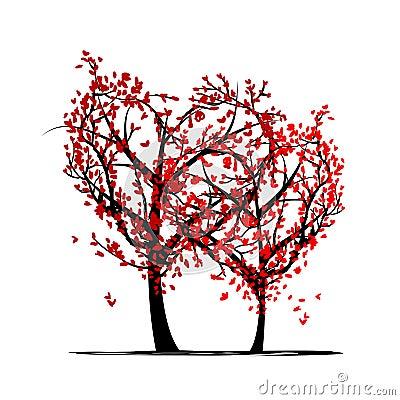 Bomen van liefde voor uw ontwerp royalty vrije stock foto 39 s afbeelding 30909758 - Boom ontwerp ...