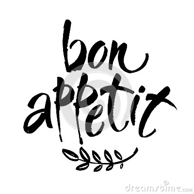 Free Bon Appetit Card. Hand Drawn Lettering Background. Ink Illustration. Modern Brush Calligraphy. Isolated On White Background. Royalty Free Stock Photos - 114528558