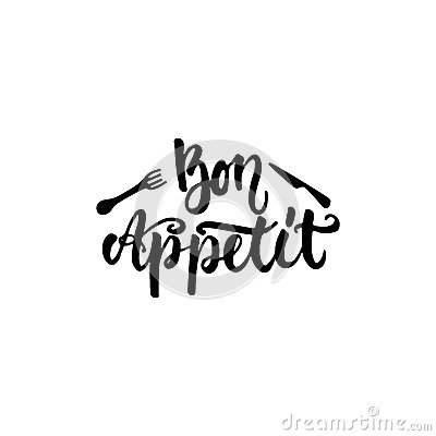 Free Bon Appetit - Hand Drawn Lettering Phrase Isolated On The White Background. Fun Brush Ink Inscription For Photo Overlays Royalty Free Stock Photo - 89055285