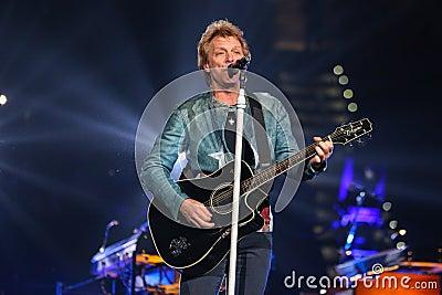 Bon Jovi live in Concert Editorial Stock Image