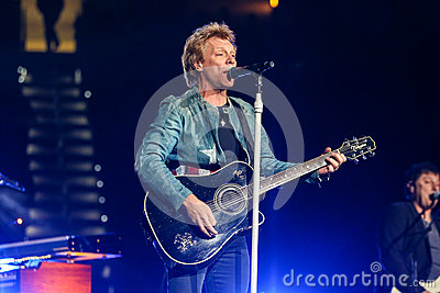 Bon Jovi live in Concert Editorial Stock Photo
