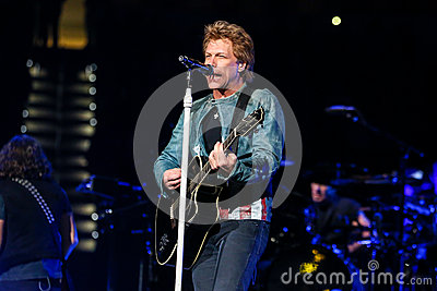 Bon Jovi live in Concert Editorial Image
