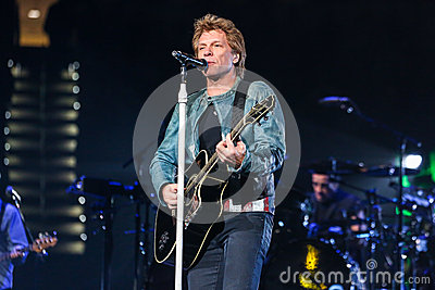 Bon Jovi live in Concert Editorial Stock Image